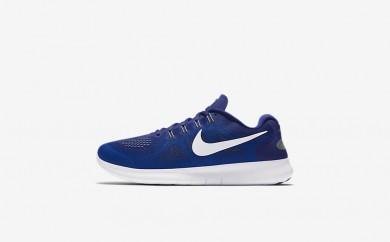 Ανδρικά αθλητικά παπούτσια Nike free rn 2017 men deep royal blue/soar/ghost green/λευκό 880839-005