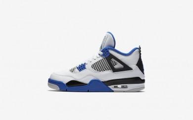 Ανδρικά αθλητικά παπούτσια Nike air jordan 4 retro men λευκό/μαύρο/game royal 308497-007