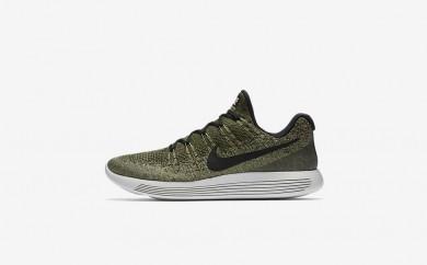 Ανδρικά αθλητικά παπούτσια Nike lunarepic low flyknit 2 men rough green/palm green/pale grey/μαύρο 863779-019