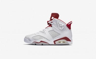 Ανδρικά αθλητικά παπούτσια Nike air jordan 6 retro men λευκό/pure platinum/gym red 384664-042