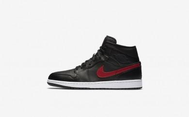 Ανδρικά αθλητικά παπούτσια Nike air jordan 1 mid men μαύρο/team red/λευκό/team red 554724-056