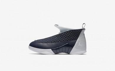 Ανδρικά αθλητικά παπούτσια Nike air jordan 15 retro men obsidian/metallic silver/λευκό 881429-075