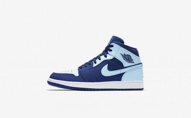 Ανδρικά αθλητικά παπούτσια Nike air jordan 1 mid men team royal/λευκό/ice blue 554724-102
