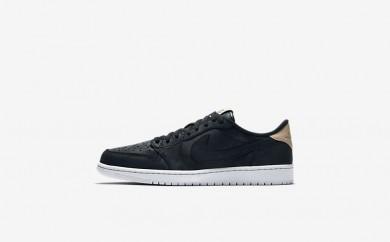 Ανδρικά αθλητικά παπούτσια Nike air jordan 1 retro low men μαύρο/λευκό/vachetta tan 905136-117