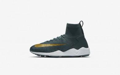 Ανδρικά αθλητικά παπούτσια Nike zoom mercurial flyknit men blue fox/college navy/λευκό/metallic gold coin 852616-122