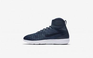 Ανδρικά αθλητικά παπούτσια Nike lunar magista ii flyknit men college navy/metallic gold coin/blue fox/college navy 876385-123