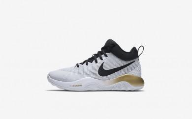 Ανδρικά αθλητικά παπούτσια Nike zoom rev 2017 men λευκό/metallic gold/pure platinum/μαύρο 852422-163