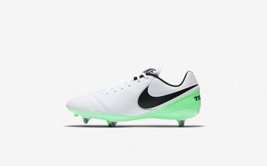 Ανδρικά αθλητικά παπούτσια Nike tiempo genio ii leather sg men λευκό/electro green/μαύρο 819715-310