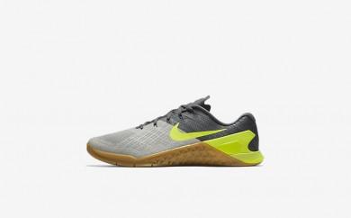 Ανδρικά αθλητικά παπούτσια Nike metcon 3 men dark grey/pale grey/light bone/volt 852928-355