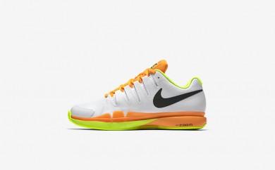 Ανδρικά αθλητικά παπούτσια Nike court zoom vapor 9.5 men λευκό/volt/total orange/μαύρο 631457-356