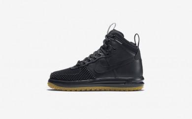 Ανδρικά αθλητικά παπούτσια Nike lunar force 1 duckboot men μαύρο/metallic silver/ανθρακί/μαύρο 805899-365
