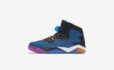 Ανδρικά αθλητικά παπούτσια Nike air jordan spike forty men μαύρο/photo blue/atomic orange/fire pink 819952-372