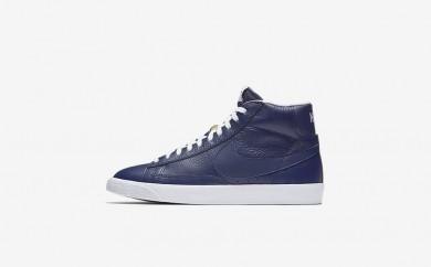 Ανδρικά αθλητικά παπούτσια Nike blazer mid premium 09 men binary blue/μαύρο/gum light brown/λευκό 429988-394