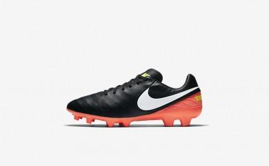 Ανδρικά αθλητικά παπούτσια Nike tiempo mystic v fg men μαύρο/hyper orange/volt/λευκό 819236-469