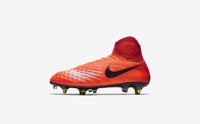 Ανδρικά αθλητικά παπούτσια Nike magista obra sg-pro clog men total crimson/university red/bright mango/μαύρο 869482-482