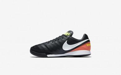 Ανδρικά αθλητικά παπούτσια Nike tiempo mystic v ic men μαύρο/hyper orange/volt/λευκό 819222-488