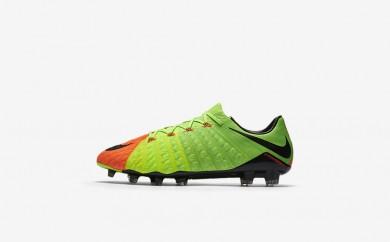 Ανδρικά αθλητικά παπούτσια Nike hypervenom phantom 3 fg men electric green/hyper orange/volt/μαύρο 852567-514