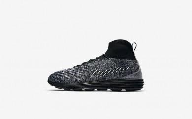 Ανδρικά αθλητικά παπούτσια Nike lunar magista ii flyknit fc men μαύρο/λευκό/λευκό/μαύρο 876385-516