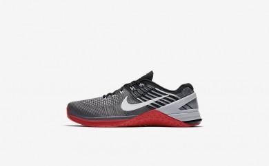 Ανδρικά αθλητικά παπούτσια Nike metcon dsx flyknit men dark grey/university red/μαύρο/λευκό 852930-525
