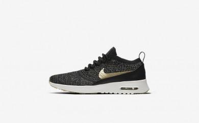 Η κα πάνινα παπούτσια Nike air max thea ultra flyknit women μαύρο/ιβουάρ/metallic gold star 881564-019