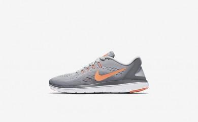 Η κα πάνινα παπούτσια Nike flex 2017 rn women wolf grey/cool grey/bright mango/sunset glow 898476-054