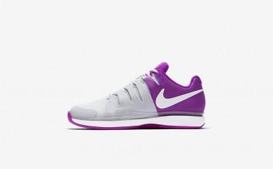 Η κα πάνινα παπούτσια Nike court zoom vapor 9.5 tour clay women pure platinum/vivid purple/λευκό/λευκό 649087-056