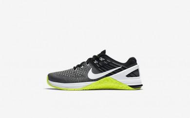 Η κα πάνινα παπούτσια Nike metcon dsx flyknit women dark grey/volt/μαύρο/λευκό 878556-089