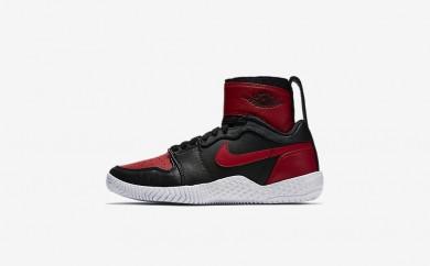 Η κα πάνινα παπούτσια Nike court flare 23 women μαύρο/varsity red/varsity red 878458-094