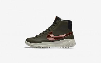 Η κα πάνινα παπούτσια Nike blazer women cargo khaki/lava glow/light bone/μαύρο 818730-106