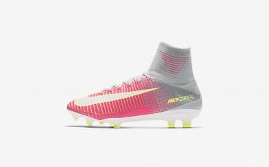 Η κα πάνινα παπούτσια Nike mercurial superfly v fg women hyper pink/wolf grey/tart/λευκό 844226-111