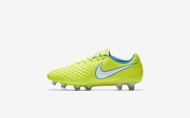 Η κα πάνινα παπούτσια Nike magista opus ii fg women volt/barely volt/chlorine blue/λευκό 844218-115