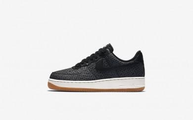 Η κα πάνινα παπούτσια Nike air force 1 premium women μαύρο/sail/gum medium brown/μαύρο 616725-153