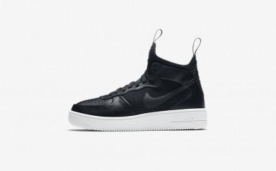 Η κα πάνινα παπούτσια Nike air force 1 ultra force mid women μαύρο/λευκό/μαύρο 864025-160