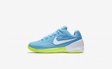 Η κα πάνινα παπούτσια Nike court zoom cage 2 women still blue/volt/λευκό 844962-178