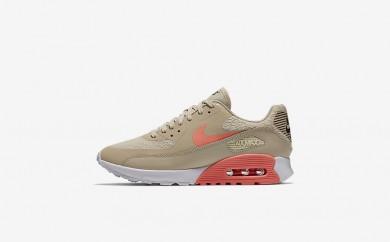 Η κα πάνινα παπούτσια Nike air max 90 ultra 2.0 women oatmeal/λευκό/dark grey/lava glow 881106-187