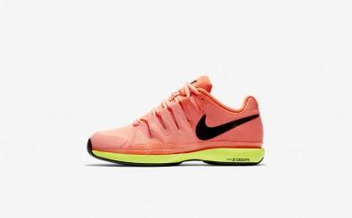 Η κα πάνινα παπούτσια Nike court zoom vapor 9.5 tour women hyper orange/volt/μαύρο 631475-192